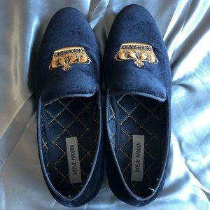 Black velvet Steven madden dress shoes